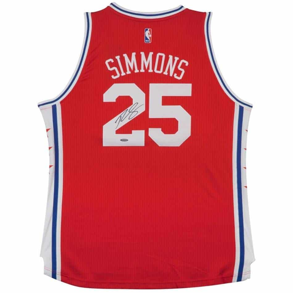 Ben Simmons Signed 76ers Alternate Jersey - Authentic Autographs 48122126b