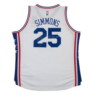 fa69cb6f6 Ben Simmons Signed 76ers City Edition Nike Jersey - Authentic Autographs