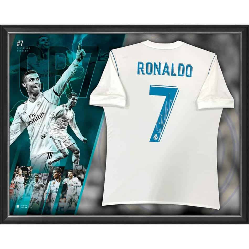 size 40 8d684 285df Cristiano Ronaldo Signed Real Madrid Jersey