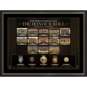 Hawthorn Football Club 'The Honour Roll' Print Includes Replica Medals