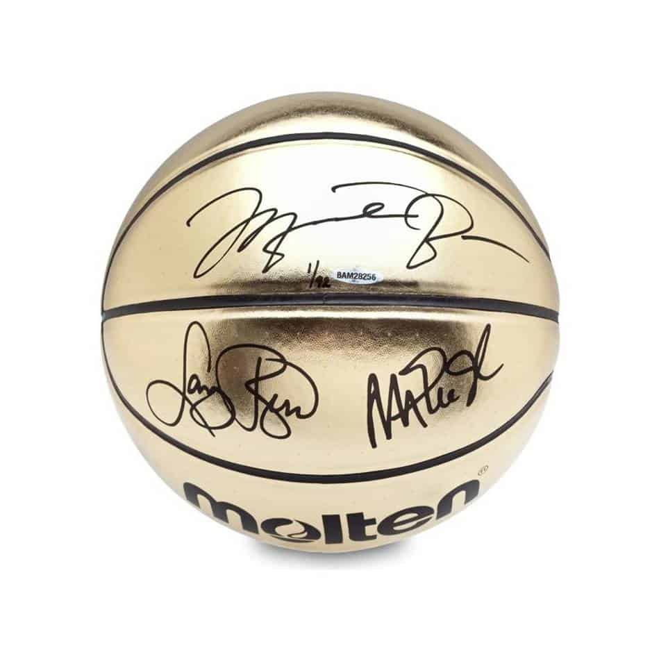 best sneakers b4e41 4a500 Jordan/Johnson/Bird Signed Basketball