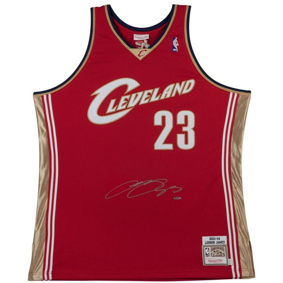 Lebron James Signed 2003-04 Cleveland Cavaliers Jersey - Authentic ... 2aebbfed1