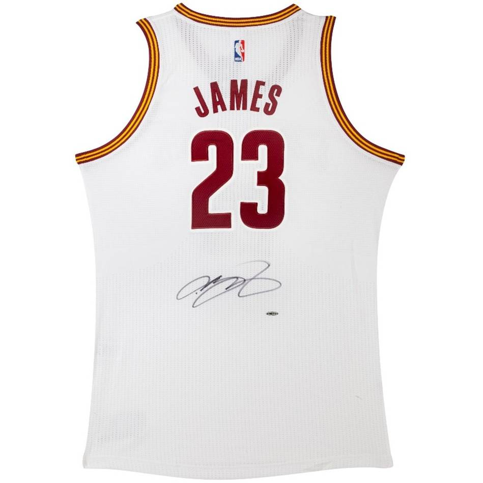 brand new f2aef 6f569 Lebron James Signed Cleveland Cavaliers Adidas Home Jersey