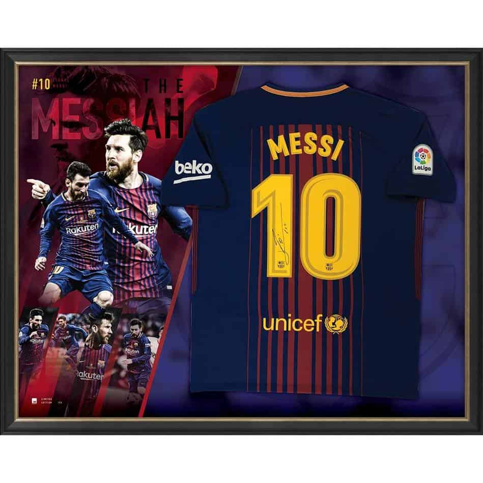7f6b9c44b Lionel Messi Signed Barcelona Jersey - Authentic Autographs