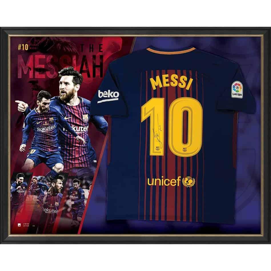 new arrival de48d 415e7 Lionel Messi Signed Barcelona Jersey