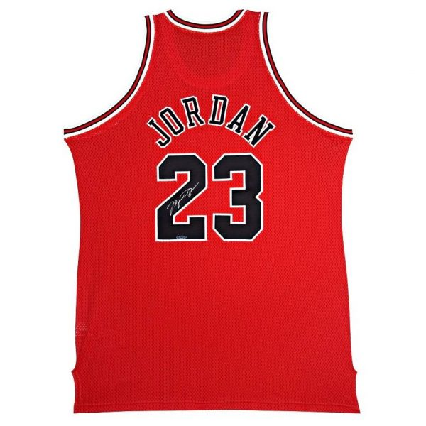 check out 5296d 22d43 Michael Jordan Signed Red Bulls Jersey