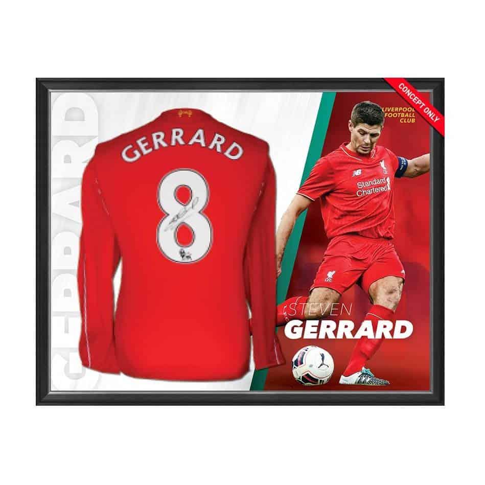 c8a33006a67 Steven Gerrard Personally Signed Liverpool Shirt - Authentic Autographs