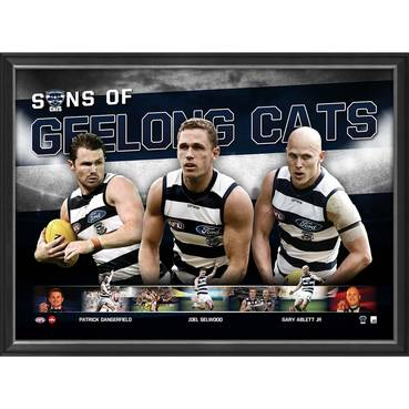 Geelong Cats Sons Of Geelong Print Authentic Autographs