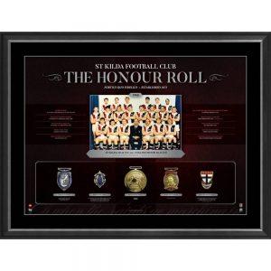 St Kilda Football Club 'The Honour Roll' Print Includes Replica Medals