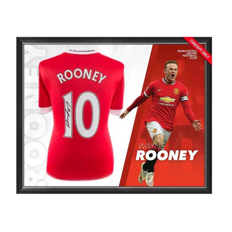 innovative design 317b3 4acab Wayne Rooney Signed Manchester United Shirt