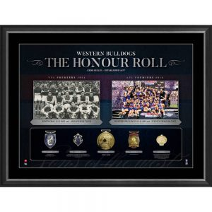 Western Bulldogs Football Club 'The Honour Roll' Print Includes Replica Medals