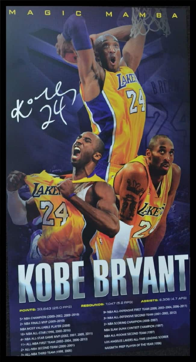 best loved 88350 6f378 Kobe Bryant Framed Collage