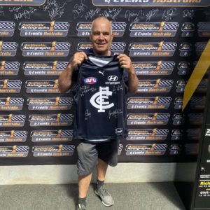 Carlton Signed Jumper By Doull, Williams, Jones, Harmes