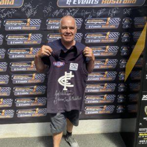 Carlton Greg Williams Signed Retro 95 Premiership Jumper