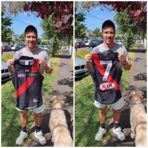 Zach Merrett Personally Signed Matchworn Jumper