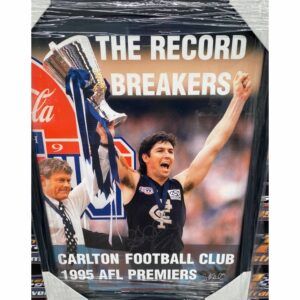 Carlton 1995 Premiership Sweet 16 Print Signed By Stephen Kernahan