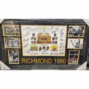 Richmond 1980 Premiership Collage Signed By Premiership Team
