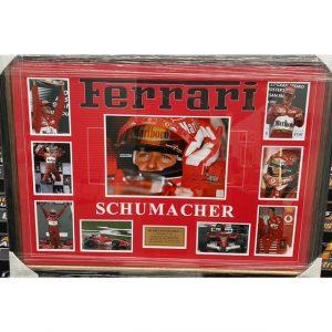 Michael Schumacher Signed Collage
