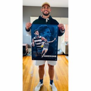 Tom Hawkins Signed Limited Edition 300 Game Print