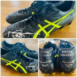 Tom Hawkins Signed 300 Game Match Worn Boots